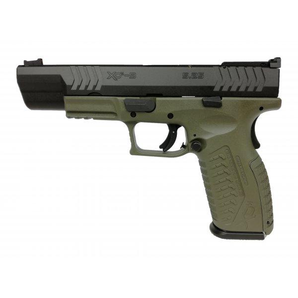 Pistolet XDM-9 5,25″ Czarno-Zielony