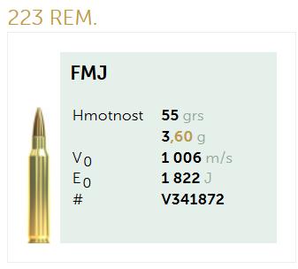 AMUNICJA SELLIER&BELLOT S&B 223 Rem. FMJ 3,6 g  / 55 grs