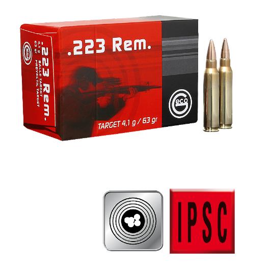 Amunicja GECO .223 REM. Target FMJ 4,1 g/63gr
