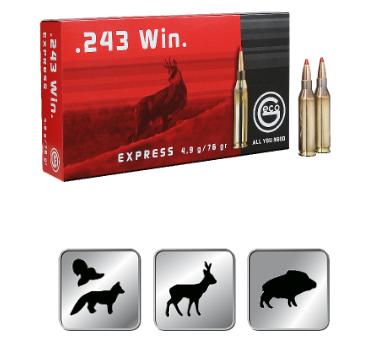 Amunicja GECO .243 WIN.  EXPRESS 4,9g /76gr