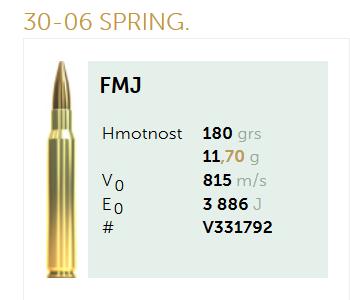 AMUNICJA SELLIER&BELLOT S&B 30-06 SPRING. FMJ 11,7 g  / 180 grs