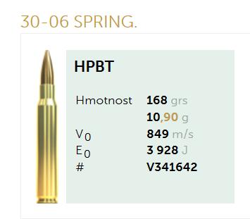 AMUNICJA SELLIER&BELLOT S&B 30-06 SPRING. HPBT 10,9 g  / 168 grs