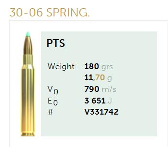 AMUNICJA SELLIER&BELLOT S&B 30-06 SPRING. 11,7 g  / 180 grs