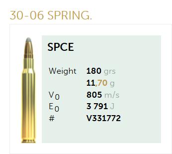 AMUNICJA SELLIER&BELLOT S&B 30-06 SPRING. SPCE 11,7 g  / 180 grs