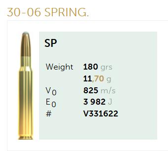AMUNICJA SELLIER&BELLOT S&B  30-06 SPRING. SP 11,7 g  / 180 grs