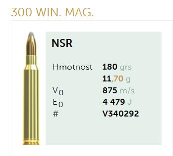AMUNICJA SELLIER&BELLOT S&B 300 Win. Mag. NSR Waga: 11,7 g  / 180 grs