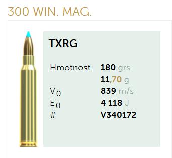AMUNICJA SELLIER&BELLOT S&B 300 Win.Mag. XTRG 11,7 g  / 180 grs