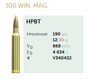 AMUNICJA SELLIER&BELLOT S&B 300 Win. Mag. HPBT 12,3 g  / 190 grs