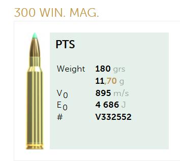 AMUNICJA SELLIER&BELLOT S&B 300 Win. Mag. PTS 11,7 g  / 180 grs