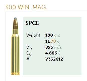 AMUNICJA SELLIER&BELLOT S&B 300 Win. Mag. SPCE 11,7 g  / 180 grs