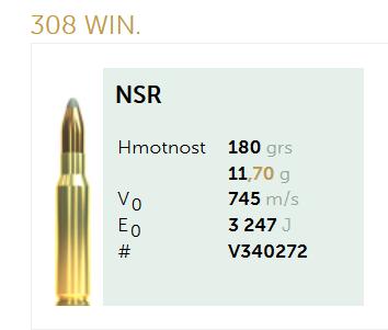 AMUNICJA SELLIER&BELLOT S&B 308 Win. NSR 11,7 g  / 180 grs