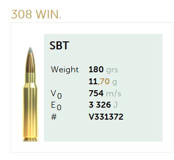AMUNICJA SELLIER&BELLOT S&B  308 Win. Sierra 11,7 g  / 180 grs