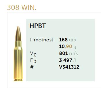 AMUNICJA SELLIER&BELLOT S&B 308 Win. HPBT 10,90 g  / 168 grs