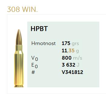 AMUNICJA SELLIER&BELLOT S&B 308 Win. HPBT 11,35 g  / 175 grs