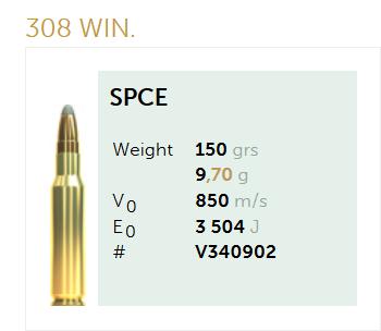 AMUNICJA SELLIER&BELLOT S&B 308 Win. SPCE 9,7 g  / 150 grs