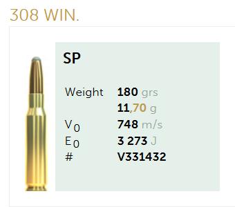 AMUNICJA SELLIER&BELLOT S&B  308 Win. SP 11,7 g  / 180 grs