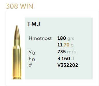 AMUNICJA SELLIER&BELLOT S&B 308Win. FMJ 11,7 g  / 180 grs