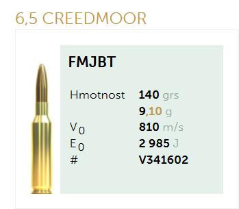 AMUNICJA SELLIER&BELLOT S&B 6,5 Creedmoor FMJ 9,1 g  / 140 grs