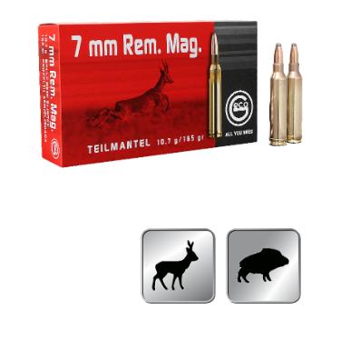 Amunicja GECO  7 MM. REM. MAG. TM 10,7g / 165gr