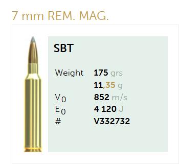 AMUNICJA SELLIER&BELLOT S&B  7mm Rem. Mag. Sierra 11,35 g  / 175 grs