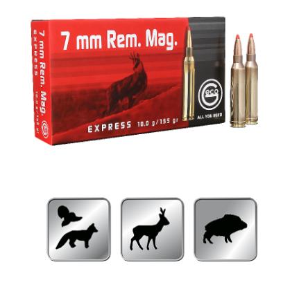 Amunicja GECO  7mm. REM. MAG. EXPRESS 10,0g /155gr