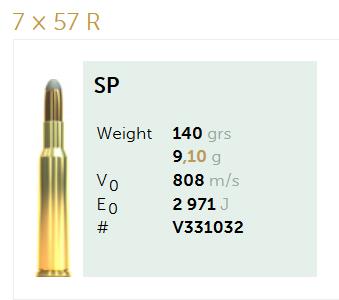 AMUNICJA SELLIER&BELLOT S&B  7x57R SP 9,1 g  / 140 grs