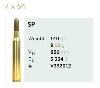 AMUNICJA SELLIER&BELLOT S&B  7×64 SP 9,1 g  / 140 grs
