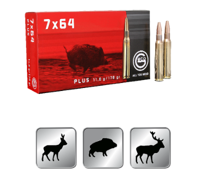 Amunicja GECO  7×64  Plus 11,0g /170gr