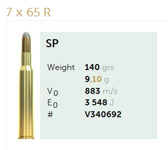 AMUNICJA SELLIER&BELLOT S&B  7x65R SP 9,1 g  / 140 grs