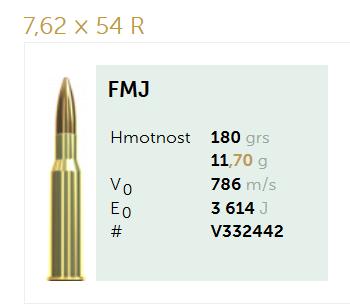 AMUNICJA SELLIER&BELLOT S&B 7,62x54R FMJ 11,7 g  / 180 grs