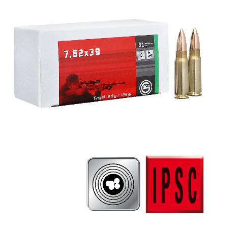 Amunicja GECO 7,62×39 Target FMJ 8,8g /124gr