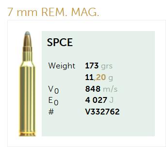 AMUNICJA SELLIER&BELLOT S&B 7mm Rem. Mag. SPCE 11,2 g  / 173 grs