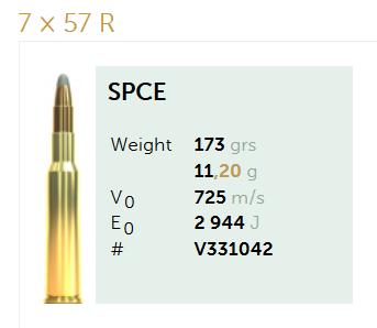 AMUNICJA SELLIER&BELLOT S&B 7×57 R SPCE 11,2 g  / 173 grs