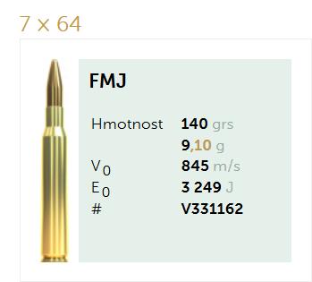AMUNICJA SELLIER&BELLOT S&B 7×64 FMJ  9,1 g  / 140 grs