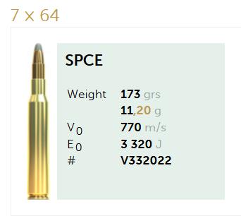 AMUNICJA SELLIER&BELLOT S&B 7×64 SPCE 11,2 g  / 173 grs