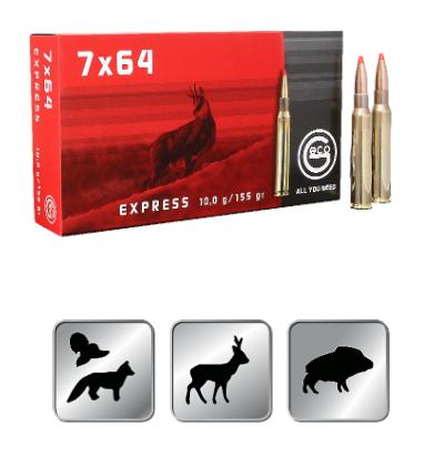 Amunicja GECO  7×64  EXPRESS 10,0g /155gr