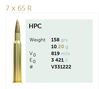 AMUNICJA SELLIER&BELLOT S&B  7x65R HPC 10,2 g  / 158 grs