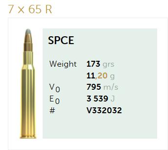 AMUNICJA SELLIER&BELLOT S&B 7x65R SPCE 11,2 g  / 173 grs