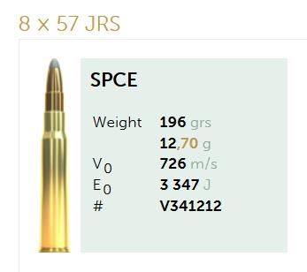 AMUNICJA SELLIER&BELLOT S&B 8×57 JRS SPCE 12,7 g  / 196 grs