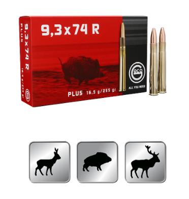Amunicja GECO 9,3x74R Plus 16,5 g/255gr
