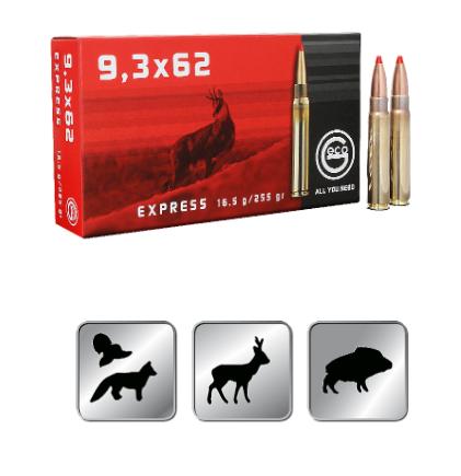 Amunicja GECO 9,3×62 EXPRESS 16,5 g/255gr