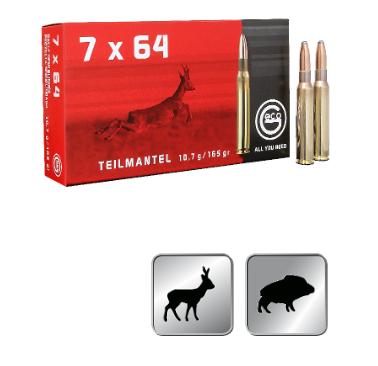 Amunicja GECO 7X64 TM 10,7g / 165gr