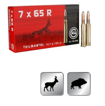 Amunicja GECO 7X65R TM 10,7g / 165gr
