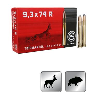 Amunicja GECO 9,3X74R TM 16,5g / 255gr