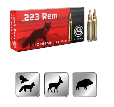 Amunicja GECO 223 REM. EXPRESS 3,6g / 56 GR